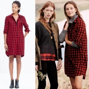 Madewell Women Shirtdress Flannel Latitude